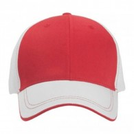 Promotional Mesh Back Headwear Polyester Cap with Visor Trim