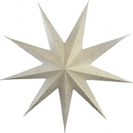 9 points white paper star