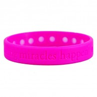 Debossed Silicone Bracelet with holes