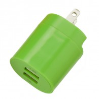 Double Oval USB A/C Adapter