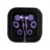 Earbuds with Microphone in Square Case