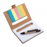 Eco sticky notes  with Pen & Flags