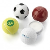 football shape lipbalm