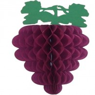 Honeycomb Ball Paper Decoration- Hanging Grape Cluster