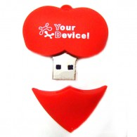 Lovely Heart Shape USB Flash Drive 8G