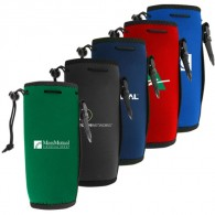 Neoprene Water Bottle Holder with Drawstring and Carabiner
