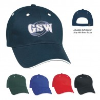 Promotional New Six Panel Cotton Twill Standard  Visors  Sandwich Cap