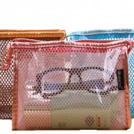New Style Colorful Cute Clear PVC Cosmetic Bag With Mirror