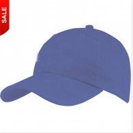 Black Outdoor 6-Panel Unstructured Cotton Promotional Cap