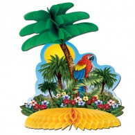 Honeycomb Ball Paper Decoration-Tropical Island Centerpiece