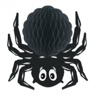 Honeycomb Ball Paper Decoration- Black Art-Tissue Spider