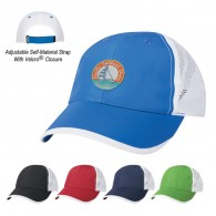 Royal Blue Polyester-Mesh  Sports Performance  Visors Hit-Dry Cap