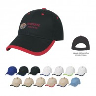 Customized White Price Buster Cotton Twill  Sports Cap with Visor Trim