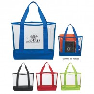 Promotional PVC And 600D Polyester Tote Bag