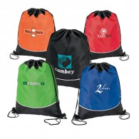 Promotional Sturdy 210D Polyester Drawstring Sportpack
