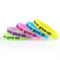 "1/2""Sold Color Glow-In-Dark Silicone Wristband,"