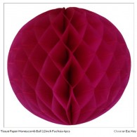 Tissue Paper Honeycomb Ball 8inch Fuchsia
