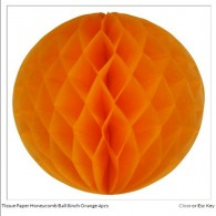 Tissue Paper Honeycomb Ball 8inch Orange