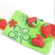 Top Quality Promo Foldable Cheap Nylon Strawberry Shopping Bag