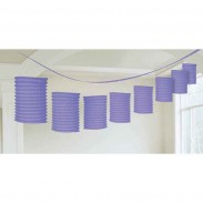 Promotional Beautiful Multicolor Lantern Garland with DIY LOGO-12inch