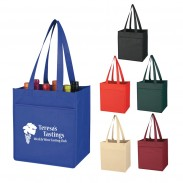 Large Non-Woven 6 Bottle Wine Tote Bag