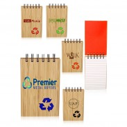 3.65 x 5.5 in. Eco Recycled Bamboo Jotters