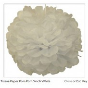 Customized Tissue Paper  Flower Ball  White