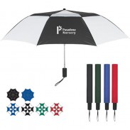 Promotional Arc Telescopic Folding Vented Umbrella with DIY LOGO