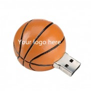 4GB Slicone USB Flash Drives-- Basketball