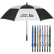 Customized Arc Vented, Windproof Umbrella with DIY LOGO