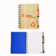 5.25 x 6.9 in Eco Recycled Bamboo Notebooks