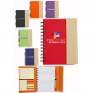 5.25 x 7 in. Eco Flip Top Notebooks with Sticky Notes