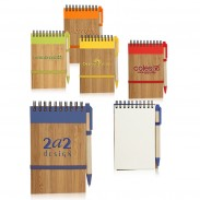 5.5 x 3.5 in. Eco Bamboo Jotters