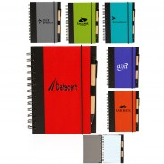5 x 7 in Eco Friendly Spiral Notebook with Pen