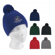 Acrylic Royal blue Embroidered Promotional Knit Beanie