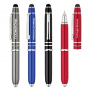High Quality Ballpoint Pen With Stylus  LED Light Multifunction Pen