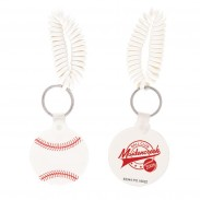 Baseball Key Chain w/ Coil