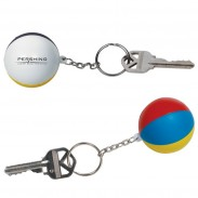 Beach Ball Stress Reliever Key Chain