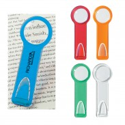 Customized Plastic Bookmarks&Ruler With Circular Magnifying Bookmar