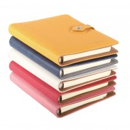 Button PU Leather Business Notebook