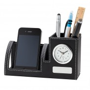 Clock, Phone Holder & Pen Cup