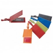Promotional Magnetic Closure Colorplay Leather Luggage Tag with DIY LOGO