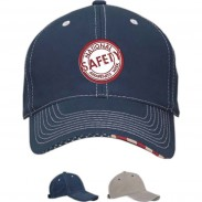 Promotional Cotton twill Navy Visors Patriotic Standard Cap