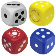 6*6cm Big Dice Stress Ball For Office and Party