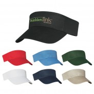 Customized Double Layer Cotton Twill Sweatband Visors Sport Cap