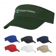 Promotional Red Double Layer Sweatband Polyester Visor Sports Cap