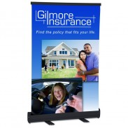 Economy Tabletop Retractor Banner Display - 24""