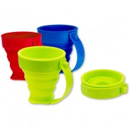 Customized Silicone Travel Extend-retract Cup with DIY LOGO