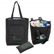 Foil Insulated Folding Cooler Tote Bag