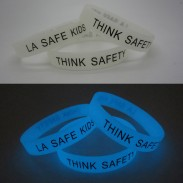 1/2 Inch Glow in Night Silicone Bracelet